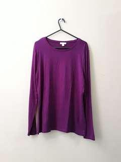 Violet long sleeved top
