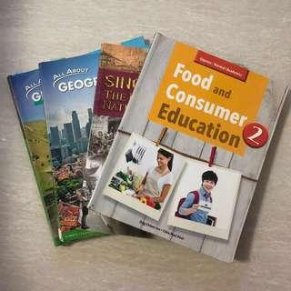 Secondary 1&2 geography and FCE textbook secondary 2 history textbook and sec 2 geog assessment book