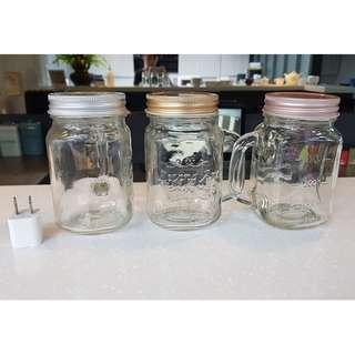 加蓋玻璃杯三只(插頭為比例尺非販售品)公司擺設用 尚未使用過