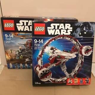 Lego Star Wars 75191 75157 -2盒