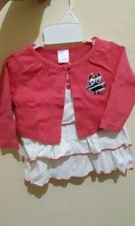 Baju atasan bayi merk ashley's