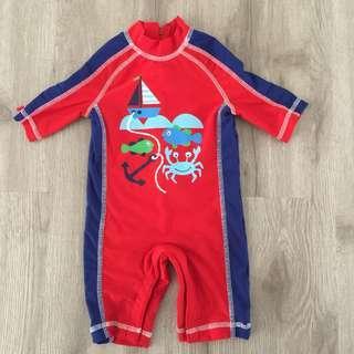 Mothercare Red Baby Swimwear