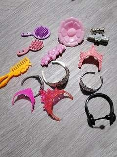 Barbie Doll Tiara and Hair clips