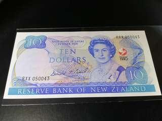 New Zealand 1990 years Commemorative  Note Ten Dollars