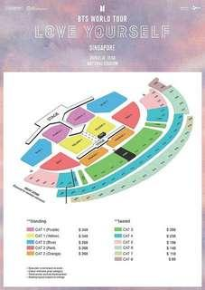 bts love yourself tour in singapore tickets