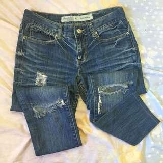 CHARLOTTE RUSSE Ripped Jeans