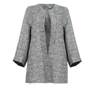 Poplook tweed lightweight blazer