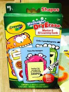 BNIB - Crayola washable DryErase learning Cards