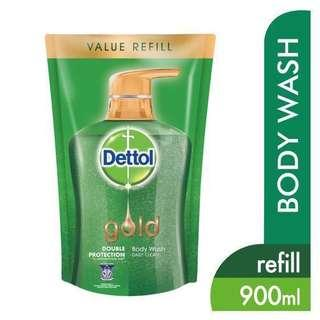 Dettol Gold 900ml Daily Clean Body Wash