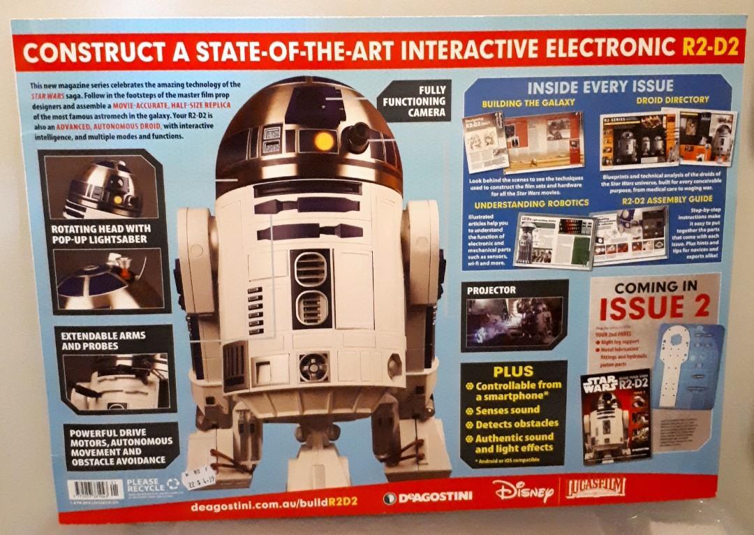 #1 Star Wars R2D2 DeAgostini 1:2 Working Droid Kit