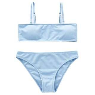 Bikini Import Biru Sky Blue Two Piece