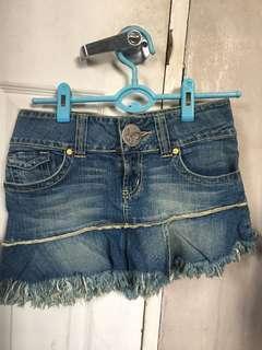 Authentic Guess jeans denim mini skirt ladies size 27