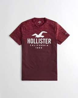 [INSTOCK] Hollister Printed Graphic Tee (S,M)