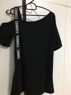 BN Black Off Shoulder chanel Top