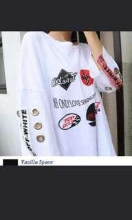 Korean Oversize Shirt (croptop)