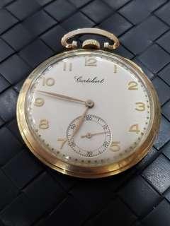 Cortebert pocket watch gold filled 10k swiss