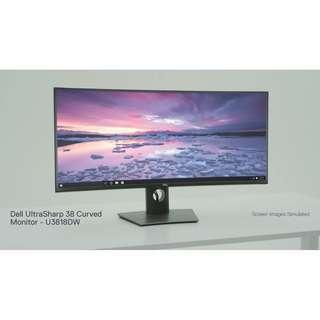 "Dell UltraSharp U3818DW 38"" 3840x1600 WQHD+ IPS LED Curve Monitor"