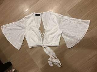 Tie Back Lace Crop Top