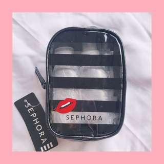 Sephora travel pouch and bottles