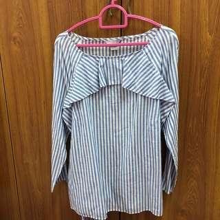 NEW H&M Stripes Blouse Top