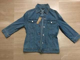 3/4 Sleeve Denim Jacket