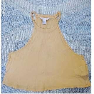 Forever 21 Mustard Cropped Top