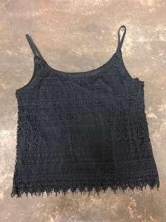 [BN] Acewin Crop Lace Top