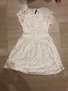 H&M Cream Lace Dress