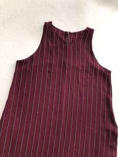 SALE❗️Maroon Stripe Midi Dress