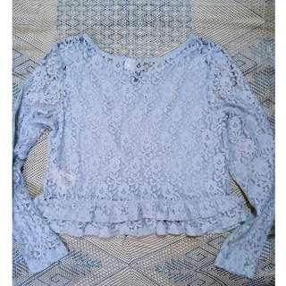 H&M Lace Long-Sleeve Top (used only once)