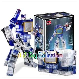 [ In Stock ] Transformers Toy House Factory Masterpiece MP 13 Clear Soundwave KO
