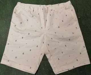 Heart Robot Design White Shorts