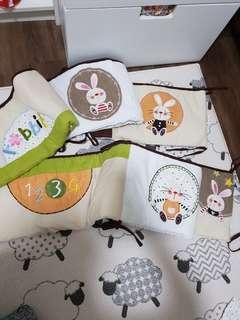 bunny design - cots bedding set