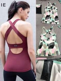 [ Aumnie。sport bra。90%new著小過五次。Lululemo。瑜伽服。修身。顯瘦。運動衫。健身 ]