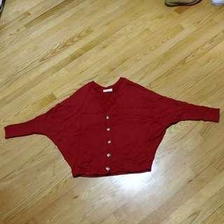 暗紅色外套 coat