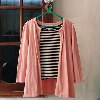 Pink Cardigan Soft Knit