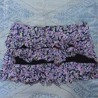 Forever 21 Floral Short Skirt