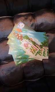 $2×2 orchid series stamps. 10 pcs.