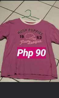 Pink Hush puppies tshirt