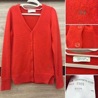 🚚 秋冬❄️ 日本 SLY 羊正紅 針織小外套 小開衩 羊毛