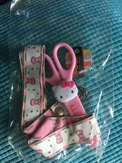 Hello Kitty Lanyard and scissor and ruler