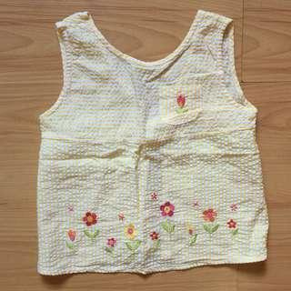 Yellow sleeveless top Fits 4-5yrs old