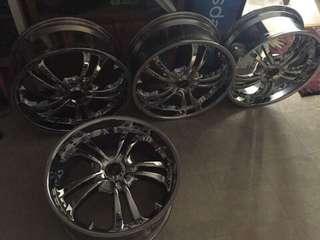 Tire Mugs 5holes 4pcs