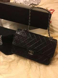 Chanel Classic double flap 2.55 silver hardware 💯 % Authentic