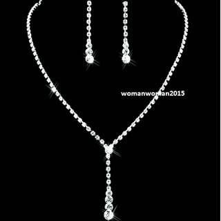 Austrian Crystal Jewelry set for bridal or dinner