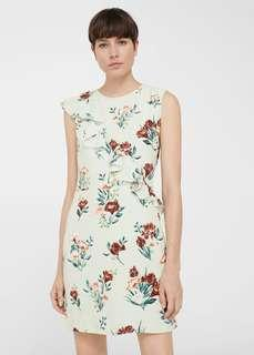 MNG Floral Ruffles Dress