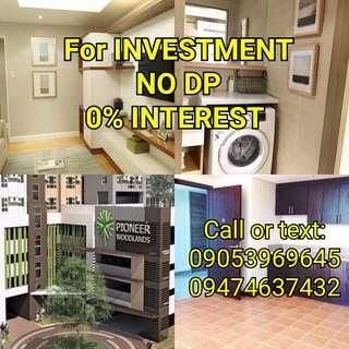 NO DP 1 BR. 13K MO. Preselling Rent to Own Condo in Mandaluyong Pioneer Woodlands MRT Boni connected near Makati, Ayala, BGC, Ortigas, Shaw Boulevard