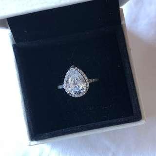 Pandora large teardrop ring size 50 authentic