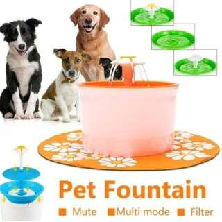 1.6L Pet Water fountain Electronic green Colour water Bowl for small Pets