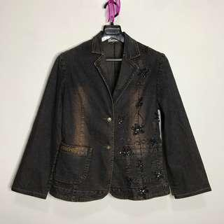 Moschino Beaded Denim jacket (can fit semi large)